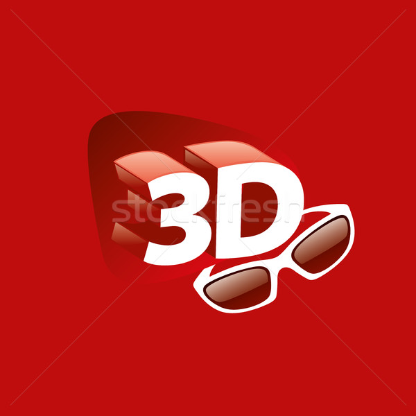 Vektör logo 3D logo tasarımı şablon ikon Stok fotoğraf © butenkow