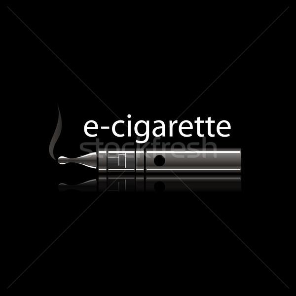 vector logo electronic cigarette Stock photo © butenkow