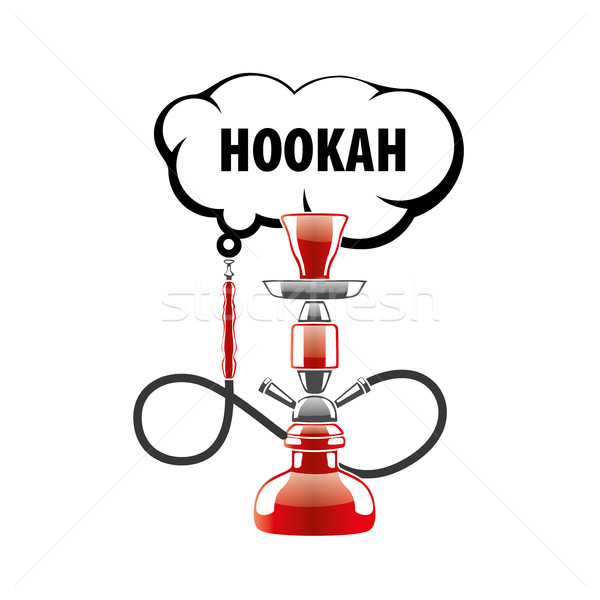 vector logo hookah Stock photo © butenkow