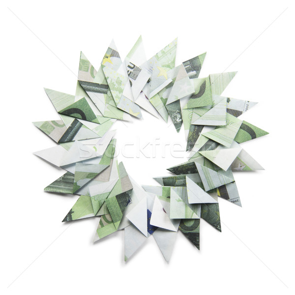 Christmas wreath origami Stock photo © butenkow
