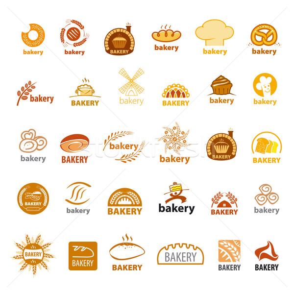 biggest collection of vector logos bakery  Stock photo © butenkow