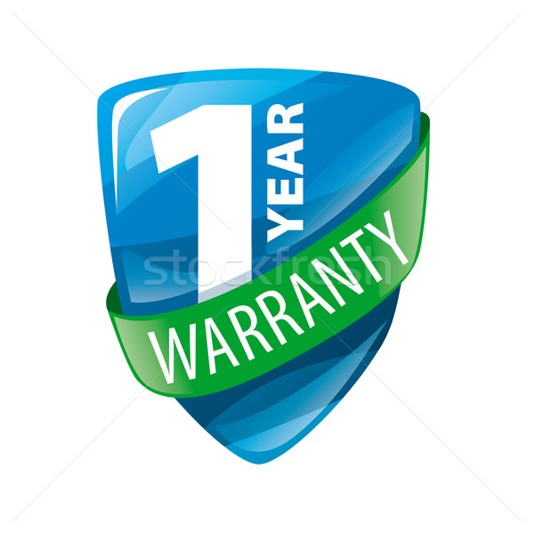 vector logo in the form of shield 1-year warranty Stock photo © butenkow