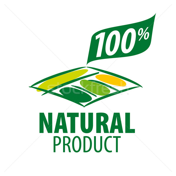 vector logo garden beds for 100% natural products Stock photo © butenkow