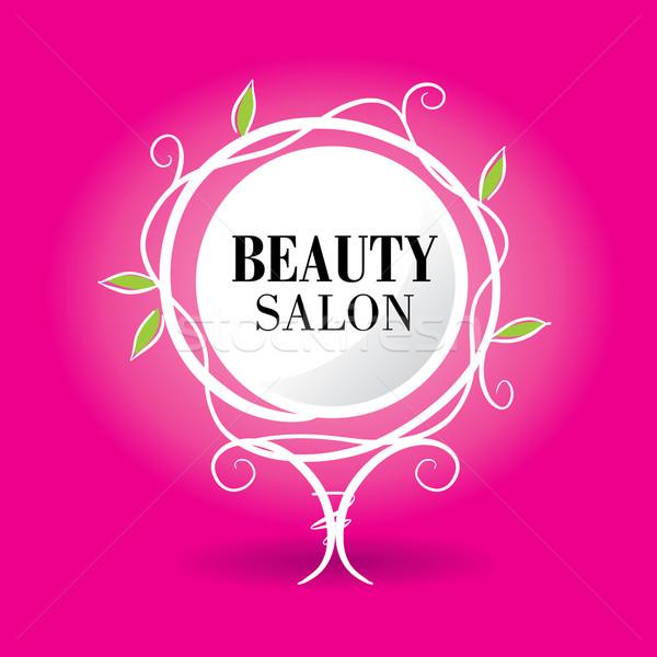 logo beauty salon Stock photo © butenkow