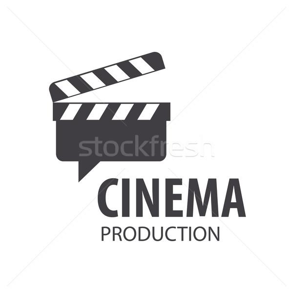 vector logo Slate Board for shooting movies Stock photo © butenkow