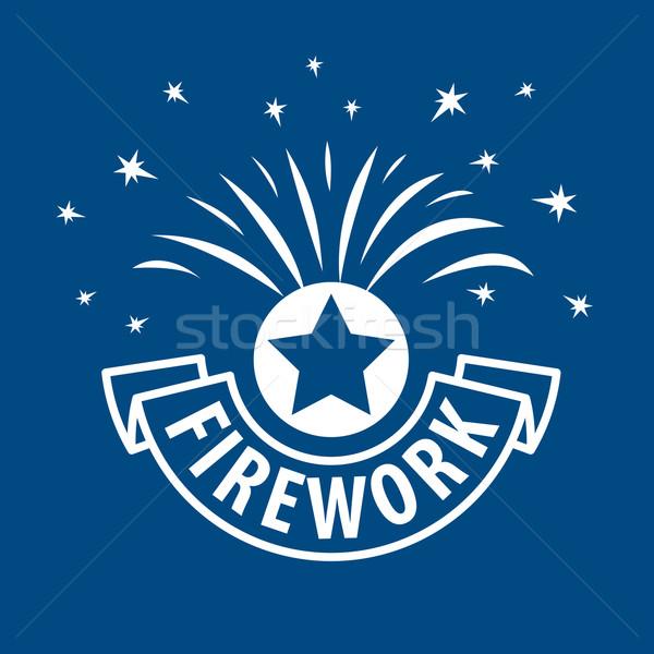 vector logo for fireworks vector illustration rh stockfresh com Fireworks Transparent Background black cat fireworks logo vector