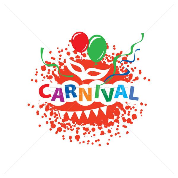 Carnaval vector logo abstract sjabloon festival Stockfoto © butenkow
