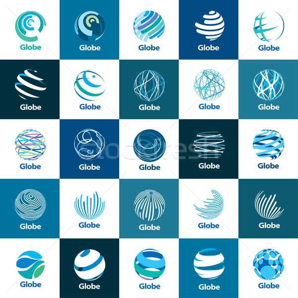 Vektör logo dünya şablon logo tasarımı ikon Stok fotoğraf © butenkow