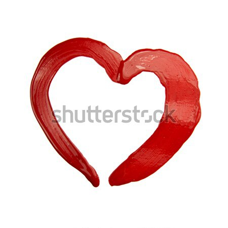 painted red heart Stock photo © butenkow