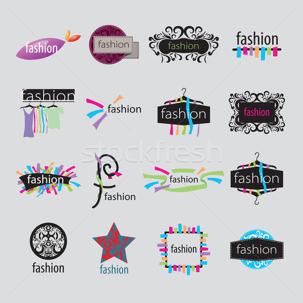 collection of vector logos fashion accessories Stock photo © butenkow