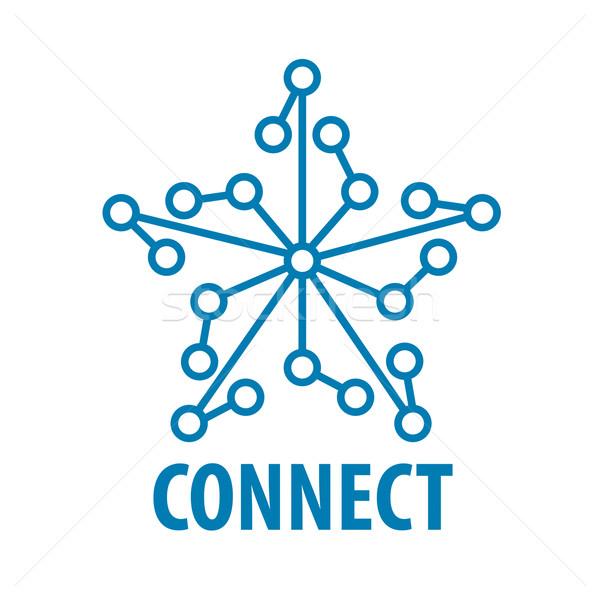 Foto d'archivio: Vettore · logo · collegare · star · rete · business