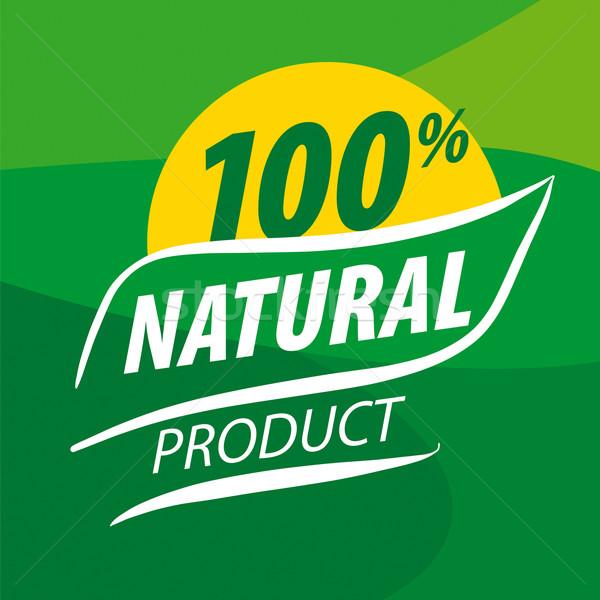 Soyut vektör logo organik gıda yeşil dizayn Stok fotoğraf © butenkow