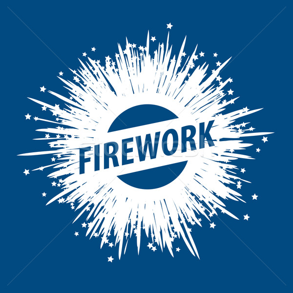 vector logo for fireworks Stock photo © butenkow