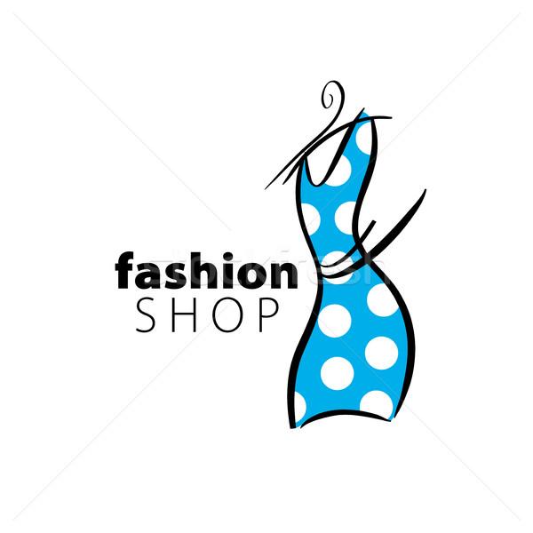 Vector logo ropa ilustración vestido percha Foto stock © butenkow