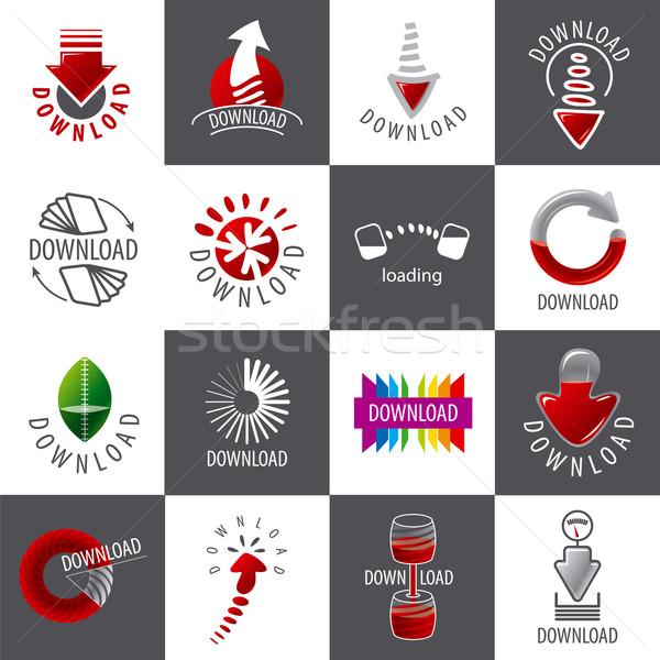 Foto stock: Grande · establecer · vector · logos · descargar · negocios
