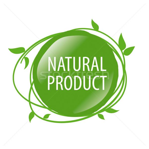Vector logo alimentos orgánicos diseno arte granja Foto stock © butenkow