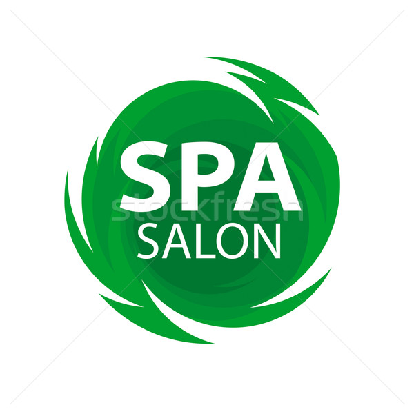 Round abstract vector logo for Spa salon Stock photo © butenkow