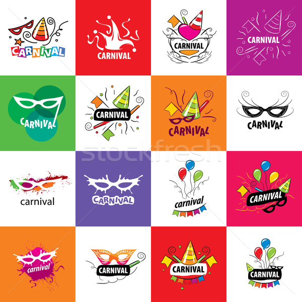 Carnival vector logo Stock photo © butenkow