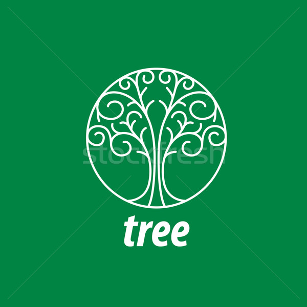 vector logo tree Stock photo © butenkow
