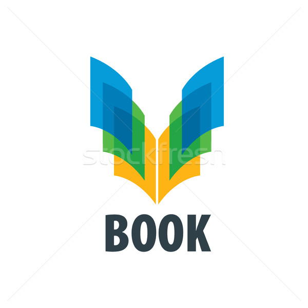Vector teken boek abstract logo boeken Stockfoto © butenkow