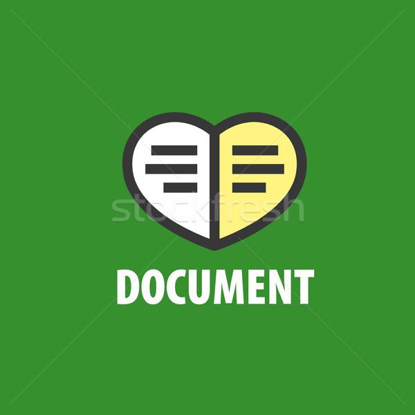 Vecteur logo document dossiers illustration notepad Photo stock © butenkow