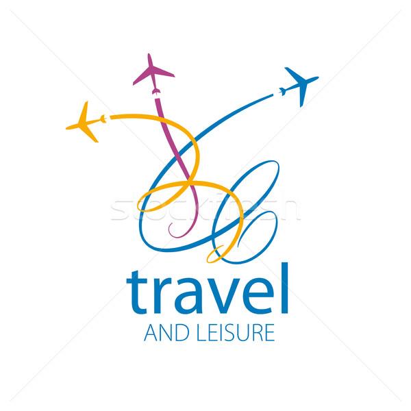 Reise Vektor logo Vorlage Flugzeug Flug Stock foto © butenkow