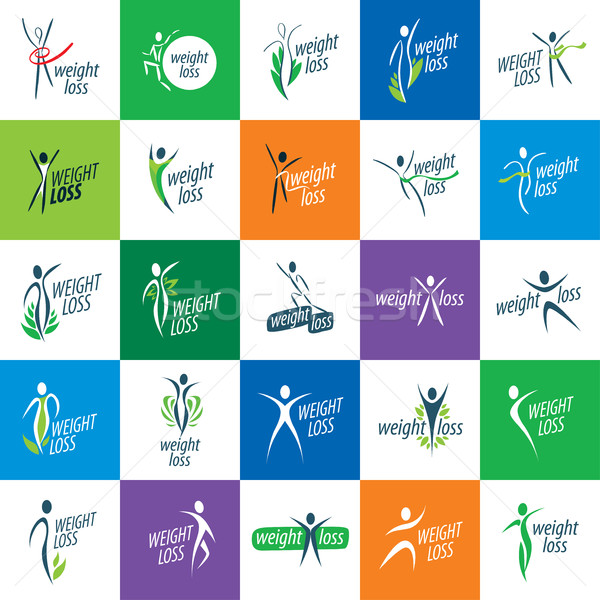 weight loss icons Stock photo © butenkow