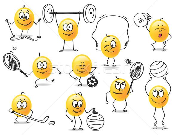 vector smiley sports Stock photo © butenkow