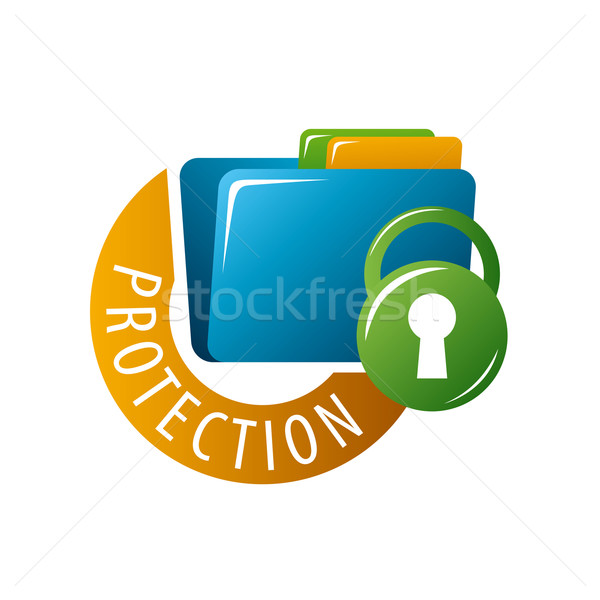 vector logo folder with documents protected Stock photo © butenkow