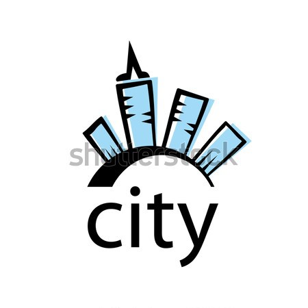 vector logo city in the form of crystals Stock photo © butenkow