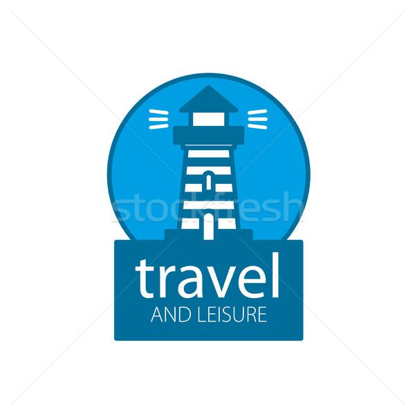 Vector vuurtoren logo sjabloon reizen business Stockfoto © butenkow