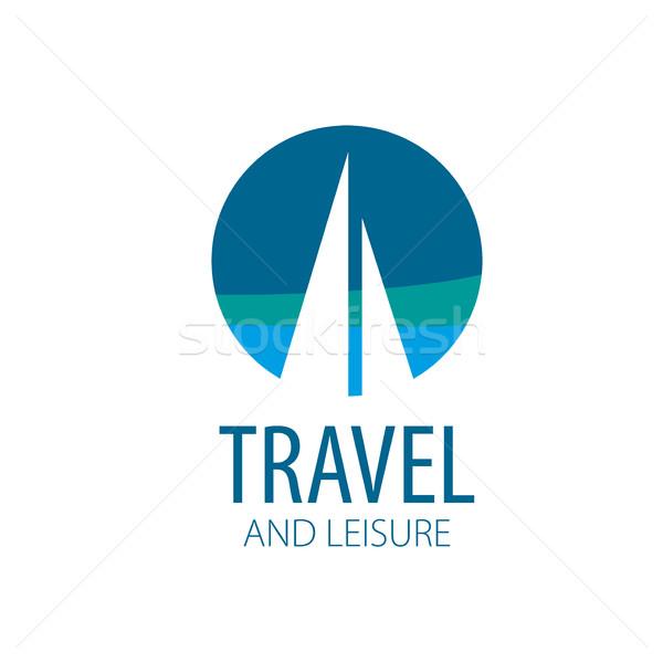 вектора логотип яхта шаблон иллюстрация путешествия Сток-фото © butenkow