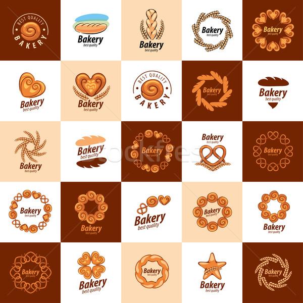 Vetor logotipo pão design de logotipo modelo ícone Foto stock © butenkow