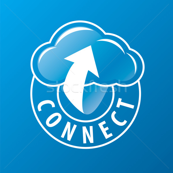 Vector logo connectiviteit wolk pijl business Stockfoto © butenkow