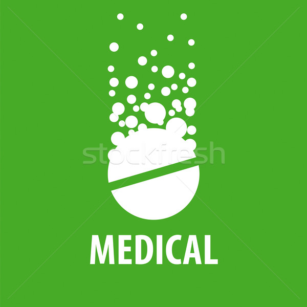 Vetor logotipo comprimido bubbles farmácia Foto stock © butenkow