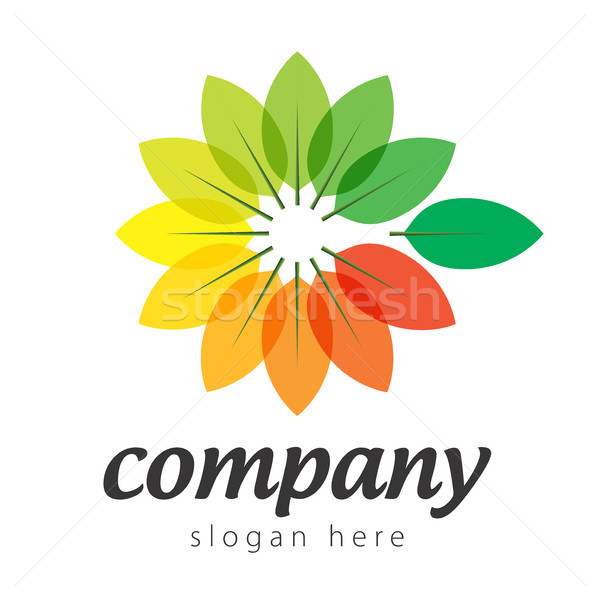 logo colorful plants Stock photo © butenkow