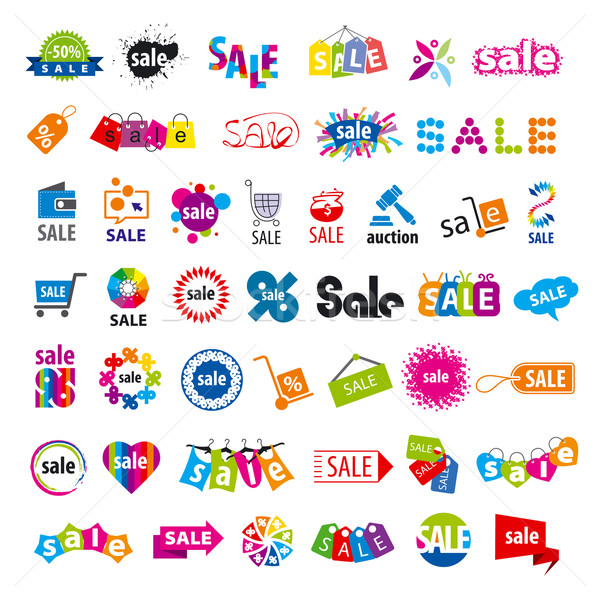 biggest collection of vector logos sale  Stock photo © butenkow