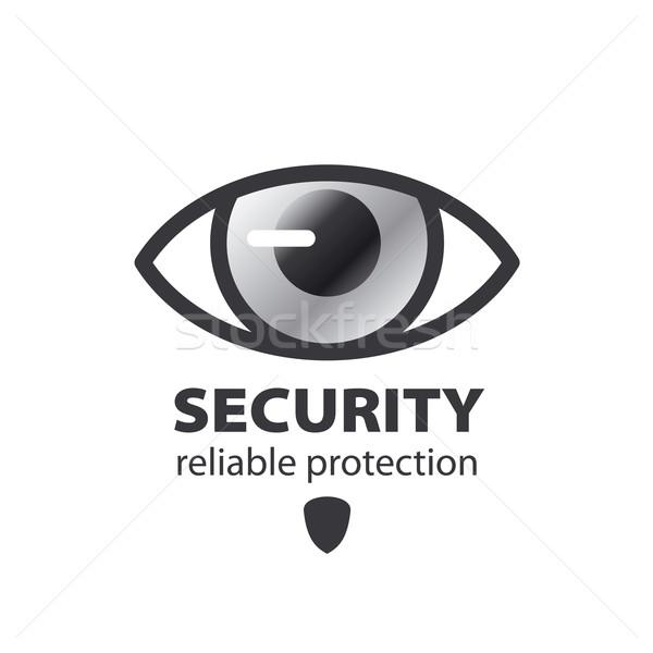 Vektor logo szem védelem megfigyelés művészet Stock fotó © butenkow