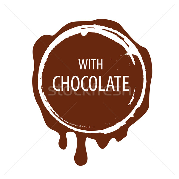 Stock photo: vector logo Chocolate printing for labels