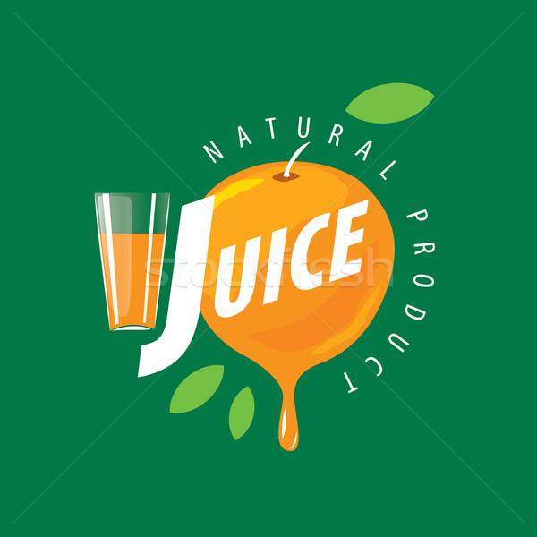 Logo fresche succo vettore icona naturale Foto d'archivio © butenkow