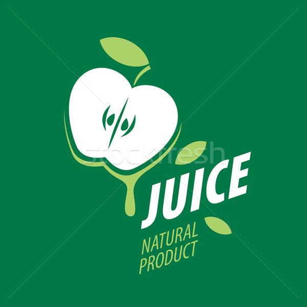 Logotipo fresco suco vetor ícone naturalismo Foto stock © butenkow