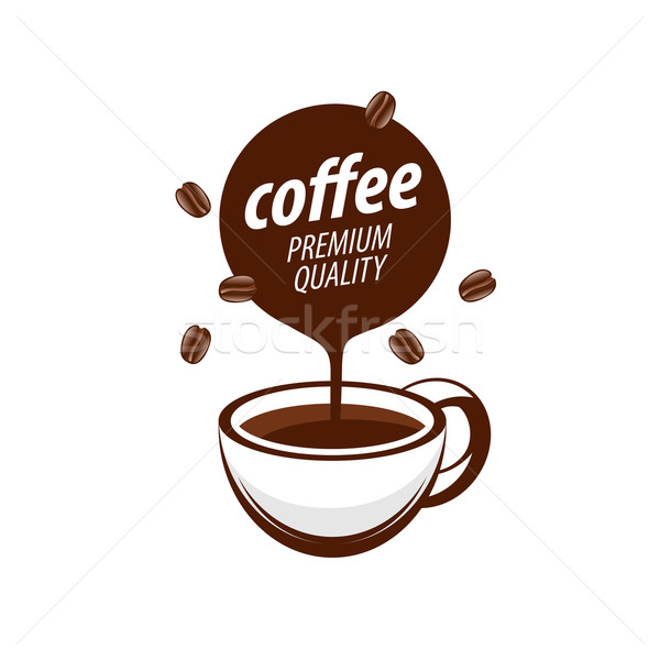Vector logo koffie warme drank illustratie ontwerp Stockfoto © butenkow