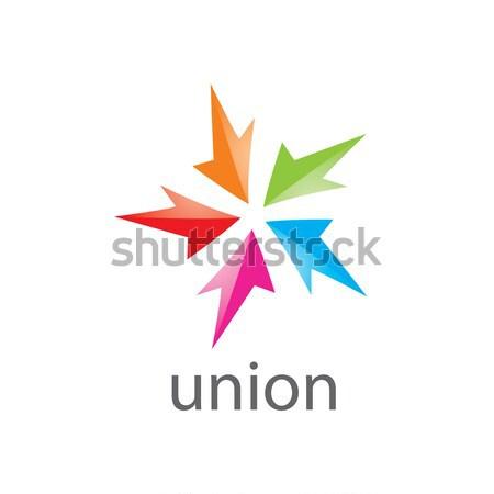 arrow logo Stock photo © butenkow