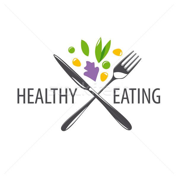 Vetor logotipo garfo faca legumes negócio Foto stock © butenkow