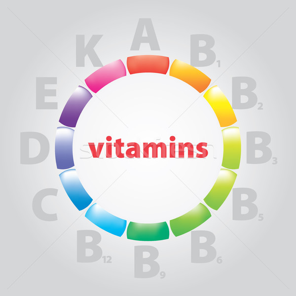 logo vitamins and nutrition Stock photo © butenkow