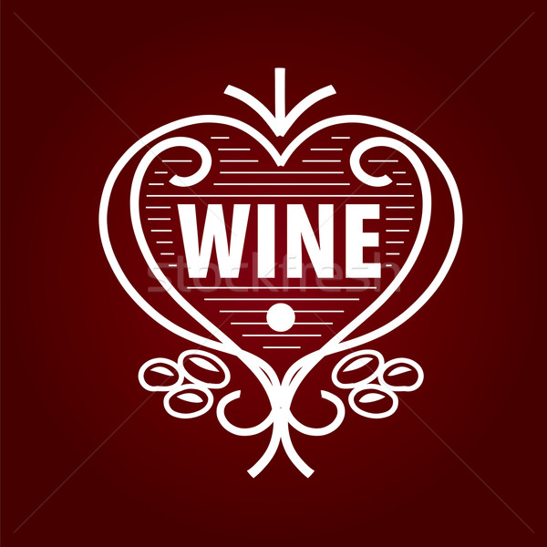 loop vector logo barrel of wine in the form of heart Stock photo © butenkow