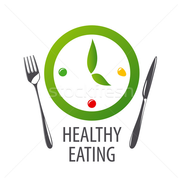 vector logo watches for healthy eating Stock photo © butenkow