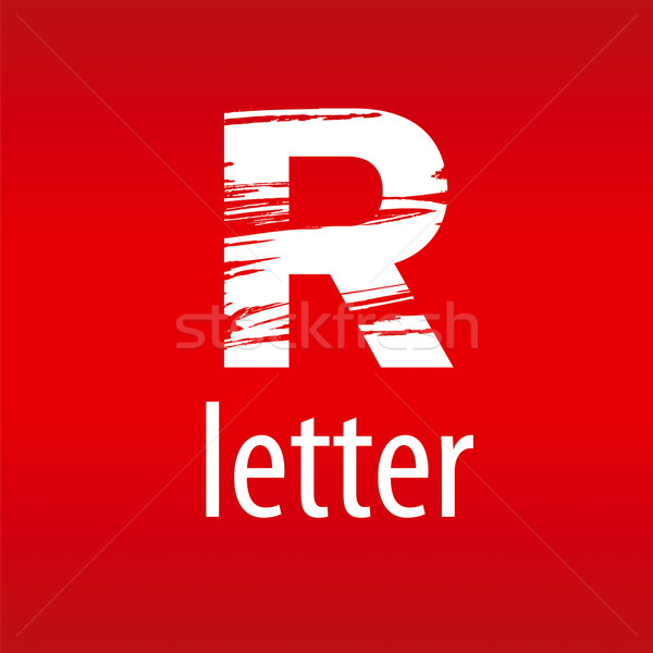 Abstract vector logo letter R in the form of print Stock photo © butenkow
