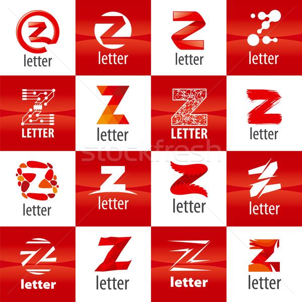 Сток-фото: большой · набор · вектора · логотип · письмо · z · знак