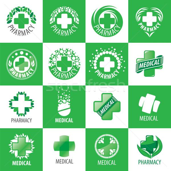 Stok fotoğraf: Büyük · ayarlamak · vektör · logolar · tıp · iş